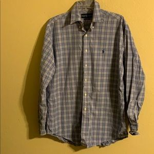 Men's Ralph Lauren blue plaid shirt medium